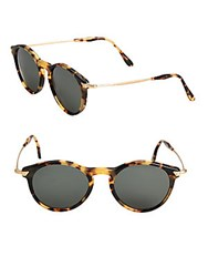 Kyme 48Mm Round Sunglasses Brown