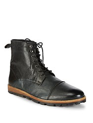 Ben Sherman Andres Leather Ankle Boots Black