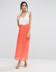 Jovonna Jovanna Peace And Love Maxi Skirt Orange
