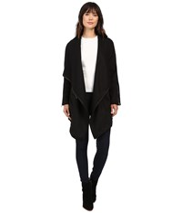 Blank Nyc Long Black Jacket In Blackout Blackout Women's Coat
