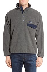 Patagonia Men's 'Synchilla Snap T' Pullover Nickel Navy Blue