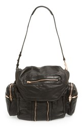 Alexander Wang 'Marti Rose Gold' Leather Backpack Black