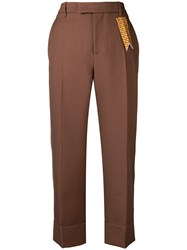 The Gigi Irma Cropped Trousers Brown