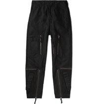 Cav Empt Black Yossarian Tapered Cotton Twill Cargo Trousers Black