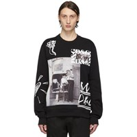Dolce And Gabbana Black Printed Patches Sweatshirt