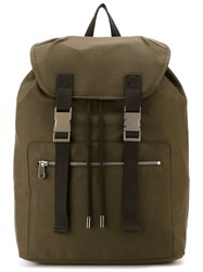 A.P.C. Two Buckle Backpack Green