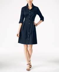 Charter Club Fit And Flare Shirtdress Only At Macy's Intrepid Blue