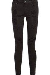 Rta Icon Low Rise Distressed Skinny Jeans Black
