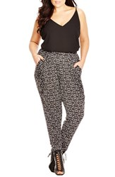 Plus Size Women's City Chic 'Aztec' Print Stretch Knit Pants
