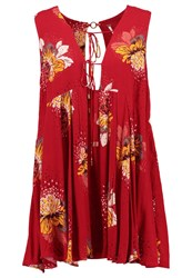 Free People Lovely Day Summer Dress Red
