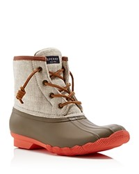 Sperry Saltwater Hemp Cold Weather Waterproof Booties Taupe