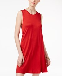 One Clothing Juniors' Swing Dress Red