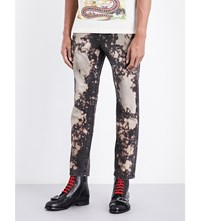 Gucci Slim Fit Bleached Jeans Brown