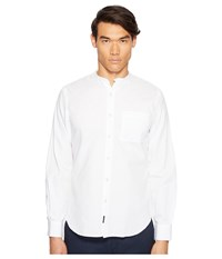 Todd Snyder Popover Band Collar Shirt W Pocket White Men's Short Sleeve Button Up