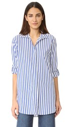 Mih Jeans Oversize Shirt Blue White Stripe