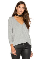 Project Social T Kinely Front Tuck Long Sleeve Gray