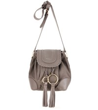 See By Chloe Leather Crossbody Bag Grey