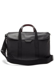 Paul Smith Signature Striped Leather Briefcase Black