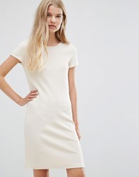 Vila Bodycon Midi In Ribbed Cream Cream