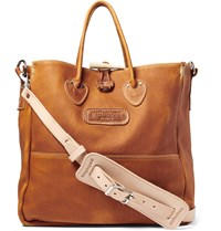 Yuketen Grained Leather Tote Bag Light Brown