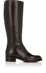 Barneys New York Back Zip Riding Boots Brown