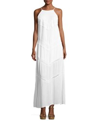 Band Of Gypsies Chevron Crochet Maxi Dress White