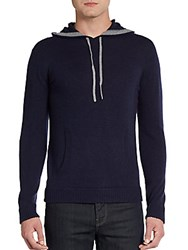 Saks Fifth Avenue Cashmere Pullover Hoodie Foggy Grey