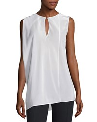 Cnc Costume National Sleeveless Keyhole Front Top White Women's
