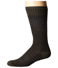 Smartwool Heathered Hiker Crew Chestnut Men's Crew Cut Socks Shoes Brown