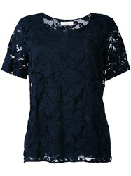D.Exterior Embroidered Blouse Women Cotton Polyamide Viscose L Blue