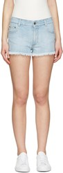 Stella Mccartney Blue Star Denim Shorts