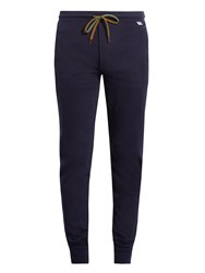 Paul Smith Tapered Cotton Jersey Pyjama Trousers Navy
