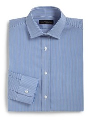 Ralph Lauren Black Label Classic Fit Bengal Stripe Dress Shirt Blue