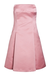 Jil Sander Satin Strapless Dress