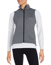 Calvin Klein Scuba Zip Up Moisture Wicking Vest Heather Grey