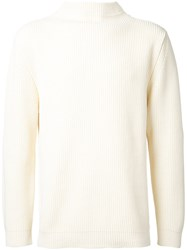 Andersen Andersen High Neck Knitted Sweater White