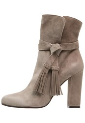 Pura Lopez High Heeled Ankle Boots Taupe