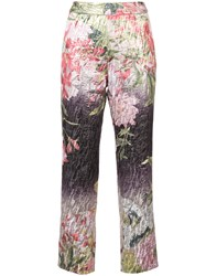 Josie Natori Birds Of Paradise Cropped Trousers Multicolour