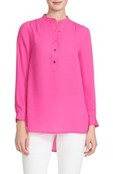 Women's Cece By Cynthia Steffe Band Collar Blouse New Fuchsia