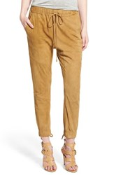 Women's Pam And Gela High Rise Lace Up Suede Jogger Pants