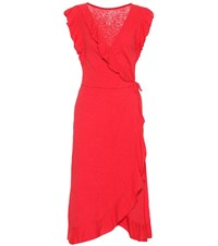 Velvet Sedona Cotton Slub Wrap Dress Red