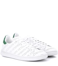 Vetements Perforated Leather Sneakers White
