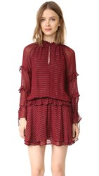 Intropia Cinched Waist Dress Wine