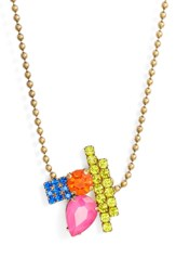 Loren Hope Avery Ball Chain Necklace Gold Multi