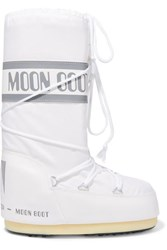 Moon Boot Shell And Rubber Snow Boots White