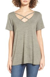 Women's Bp. Strappy Tee Olive Burnt