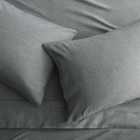 Cb2 Brushed Flannel Black White Queen Sheet Set