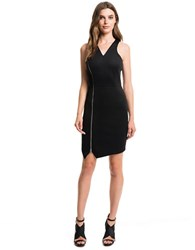 1.State Asymmetrical Sheath Dress Rich Black