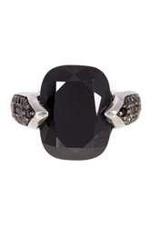 Savvy Cie Black Cz Cushion Ring