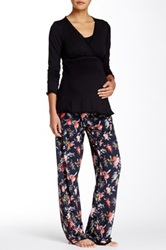 Majamas Margo Maternity Nursing Pajama Set Multi